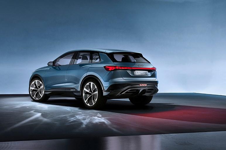 アウディがコンパクト電動SUV、Q4 e-tronコンセプトをジュネーブで発表