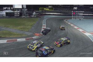 WorldRX:eシリーズ開幕戦はSVGが初優勝。緊急参戦ルクレールは横転デビュー