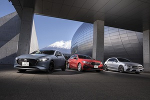 【比較試乗】「メルセデス・ベンツ Aクラス vs BMW 1シリーズ vs マツダ3 ファストバック」最新テクノロジーで世界に挑む! 和製コンパクトもここまで来た!