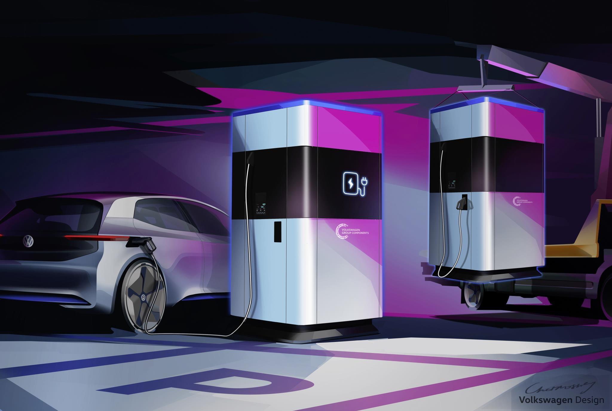 フォルクスワーゲン、自動車用の移動可能な急速充電の実証実験を2019年に開始