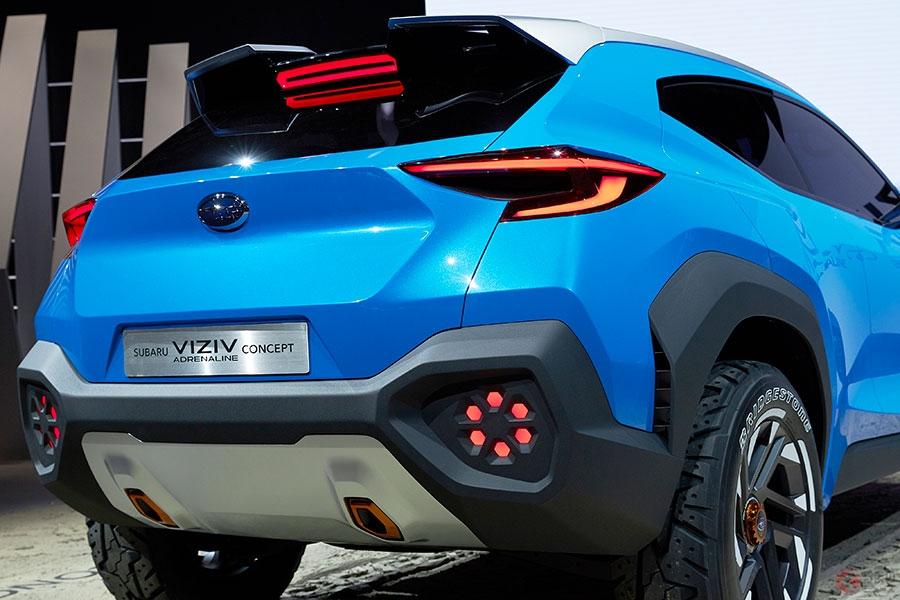 スバルがド真ん中サイズの新SUV「アドレナリン コンセプト」世界初公開 スバルデザインもガラリと変わる