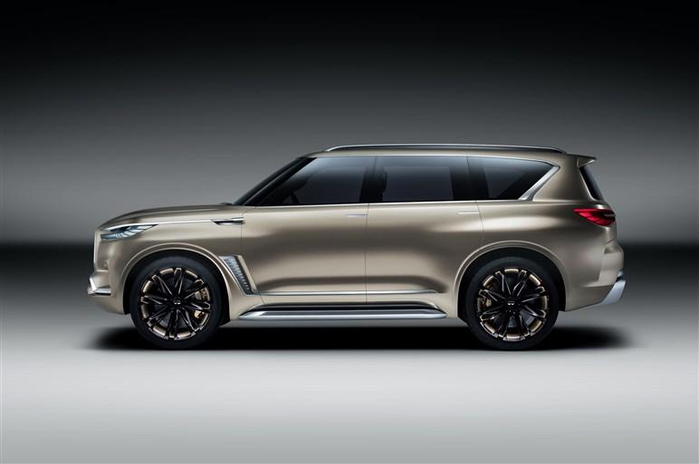 インフィニティの巨大SUV「QX80モノグラフ」発表。まつ毛風LEDも市販化してほしい