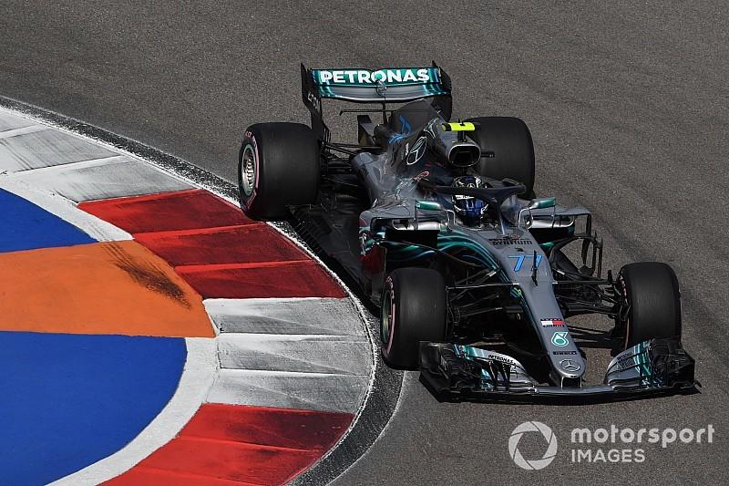 F1ロシアGP予選:メルセデス完全制圧の1-2。フェラーリ太刀打ちできず……トロロッソ・ホンダはガスリー13位