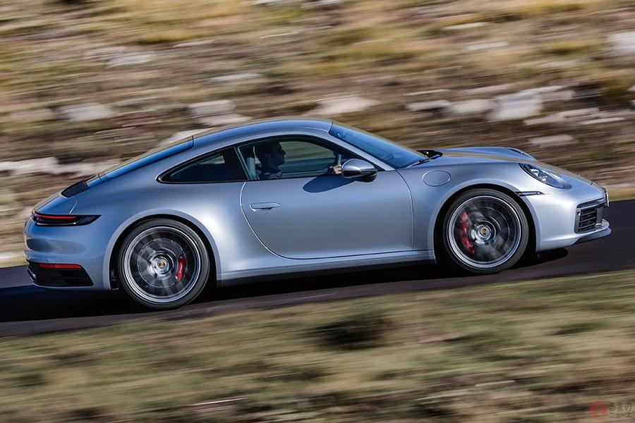 ポルシェ新型「911」450馬力にパワーアップ! 世界初のウェットモードも搭載