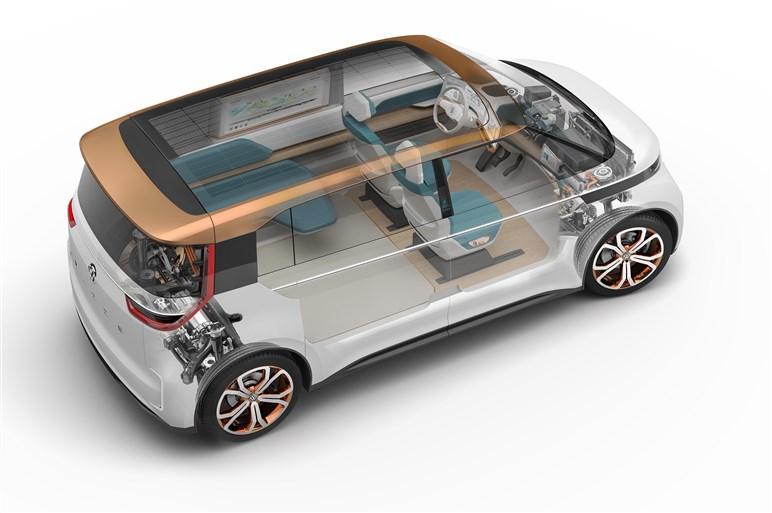 近未来のミニバン、VWのEVコンセプトモデル「BUDD-e」にCESで試乗