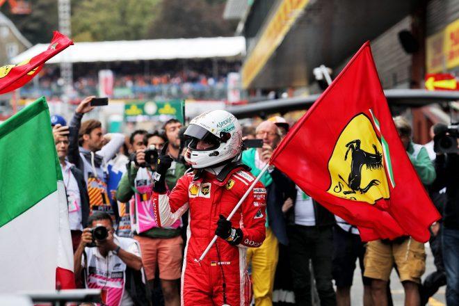 ベッテルがシーズン5勝目「アップグレード版エンジンの力もあり、ハミルトンに勝つことができた」:F1ベルギーGP日曜