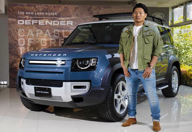 ランドローバーの新ブランド・アンバサダーにラグビープレイヤーの稲垣啓太選手が就任 新型「DEFENDER」を提供
