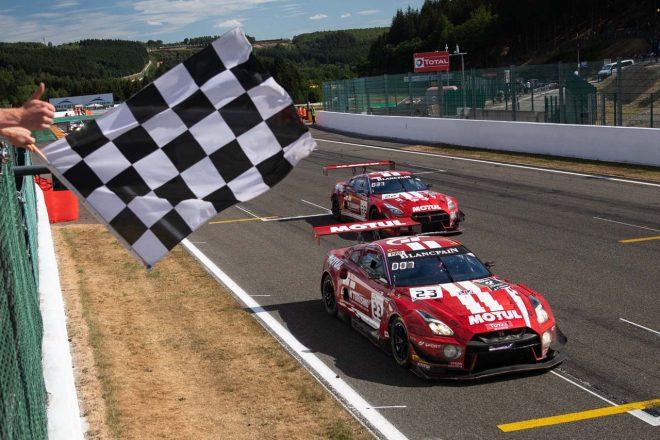 ニッサン、スパ24時間初参戦の2018年型GT-Rが7位入賞。「みんなが誇れる仕事をした結果」とオルドネス