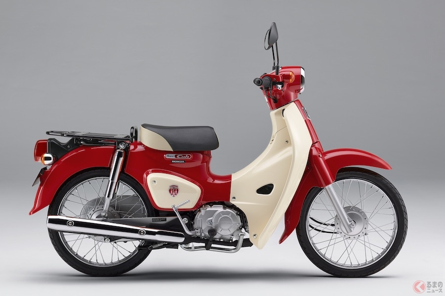 ホンダ「スーパーカブ」誕生60周年モデル発売 全米で話題を呼んだイラストをモチーフ