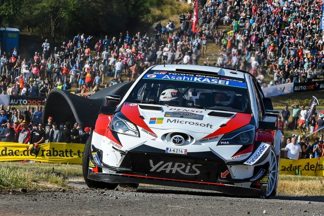 WRCドイチェランド:タナクがリード拡大でトヨタ連勝に王手。ラトバラも表彰台圏内の走り