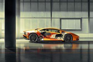 ランボルギーニ、世界に1台のアートカーをモントレーで披露!
