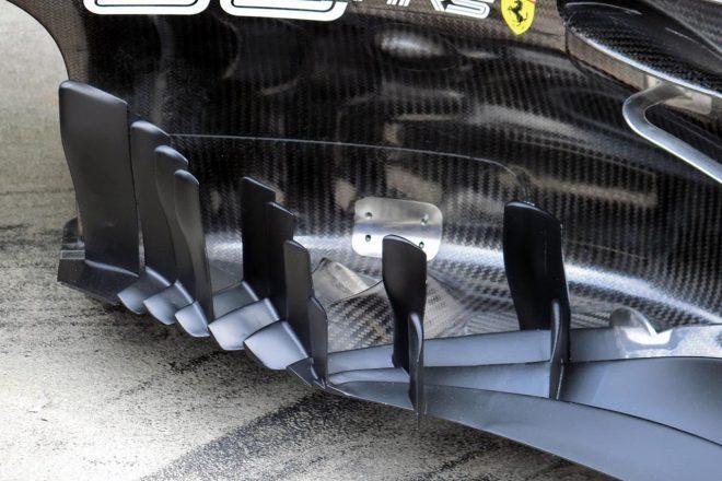 【津川哲夫F1私的メカチェック】日本GP鈴鹿で見つめるフェラーリの複雑すぎる奇妙なフロアフロント造形とエアフロー
