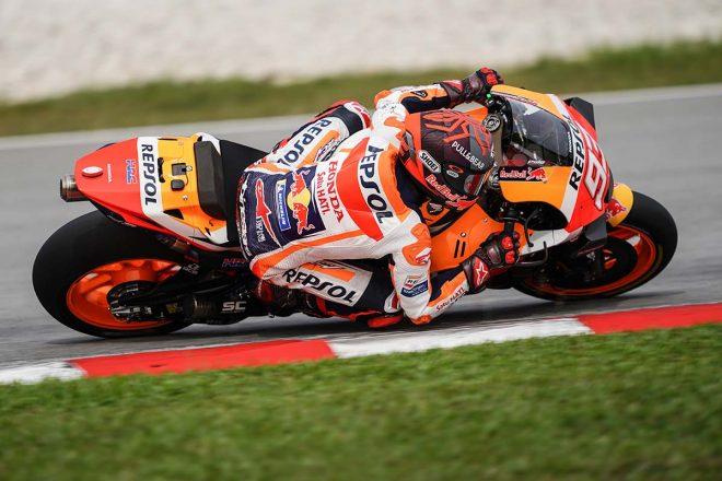 MotoGP:マルク・マルケス「クラッシュは大丈夫。明日はさらに周回を重ねる」/セパンテスト2日目コメント