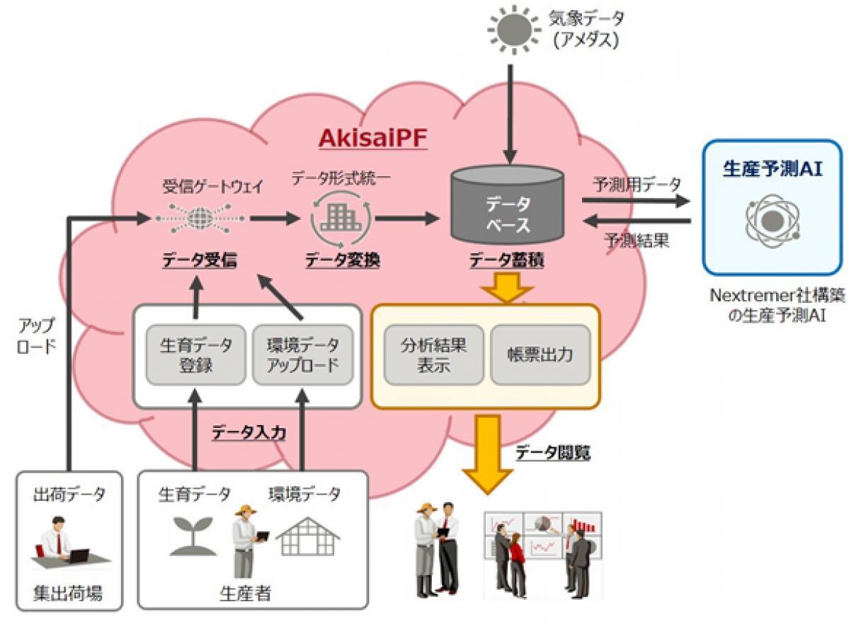 富士通:「高知県園芸品生産予測システム」を開発し、AIで生産量を予測する共同実証を開始