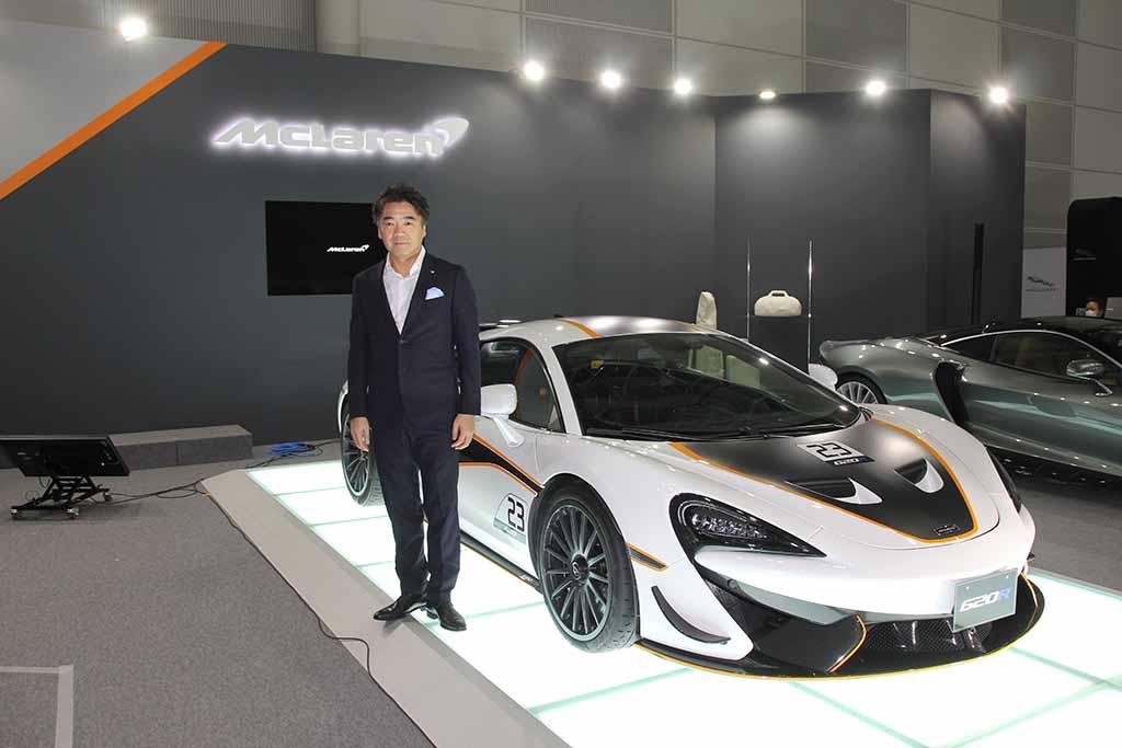 公道走行可能なレーシングモデル「マクラーレン620R」が国内初披露!