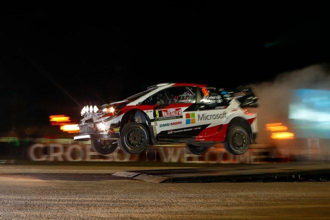 WRC:第11戦ラリーGBが開幕。SS1はラッピ、ラトバラのトヨタ勢がワン・ツー発進