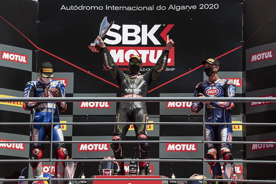 SBK第3戦ポルトガル カワサキ・J・レイ選手が今季3勝目 カワサキ通算150勝を達成