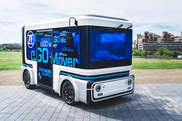 【CES2019】ZF、完全自動運転のMaaS用タクシー・バス出展