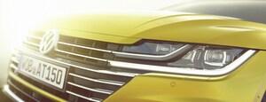 VW、新型車の顔をチラ見せ