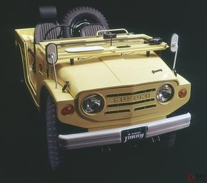スズキ 初代「ジムニー」が四駆を庶民のものに! 特撮ヒーローの車として子供からも人気