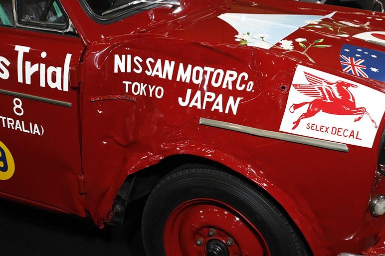 日産は海外レース活動60周年にちなみ、モータースポーツの歴史を振り返る展示に