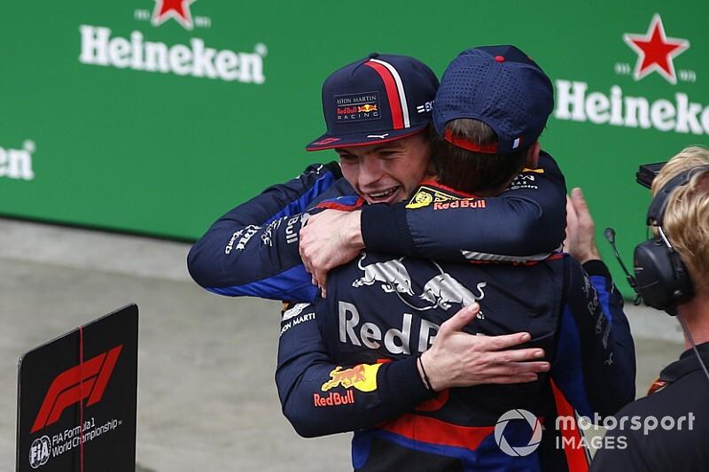 「信じられないほど素晴らしい結果」フェルスタッペン、ガスリーのブラジルGP2位を喜ぶ