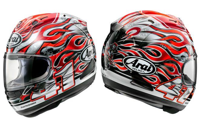 アライ、MotoGPやSBKで活躍した芳賀紀行のレプリカヘルメット『RX-7Xハガ』を発売