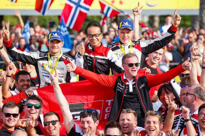 WRC:トヨタ、1994年以来通算5回目のドライバーズタイトル獲得。トミ・マキネン、「歴史的な快挙」と喜び