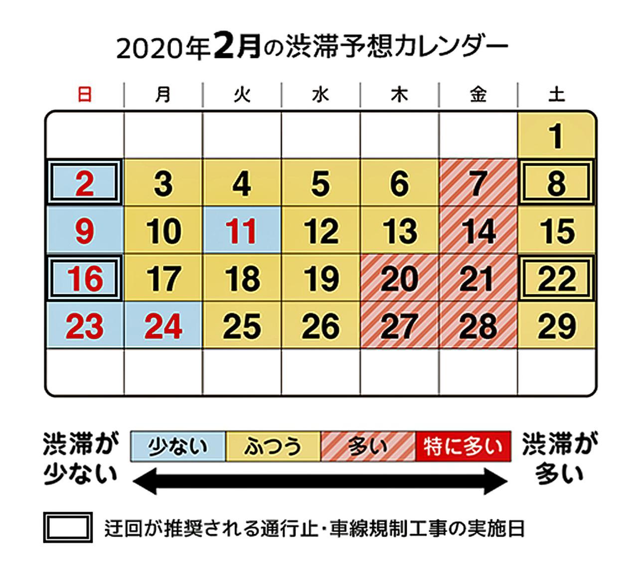 【渋滞予想】首都高速が2020年2月の渋滞予想カレンダーを発表