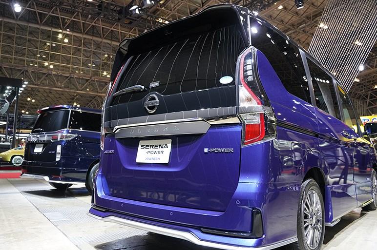 オーテックはセレナe-POWERの車中泊仕様とエルグランドのコンセプトモデルを展示 - 東京オートサロン