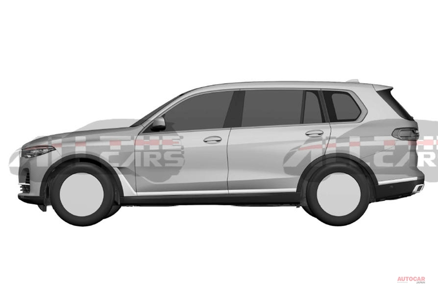 BMW新大型SUV「X7」 量産仕様のデザイン、パテント情報で判明か