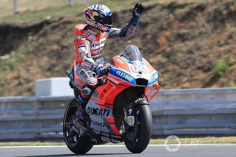 ドヴィツィオーゾ輝く! 最後の最後でポールポジション奪取。ロッシ2位、マルケス3位|MotoGPチェコGP予選