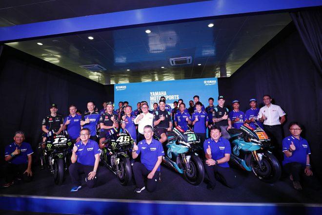 ヤマハ、国内外の2019年レース体制発表。マレーシアにロッシらヤマハライダーが一堂に集まる