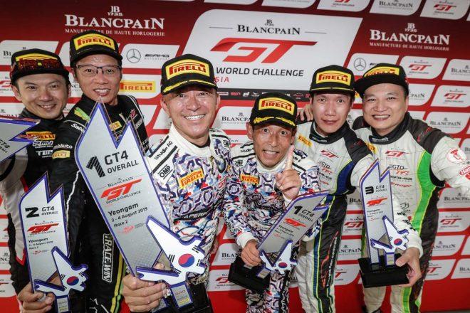 ブランパンGTアジア:BMW駆る木下隆之&砂子塾長、韓国で戴冠。GT3チーム王者も最終戦前に決定