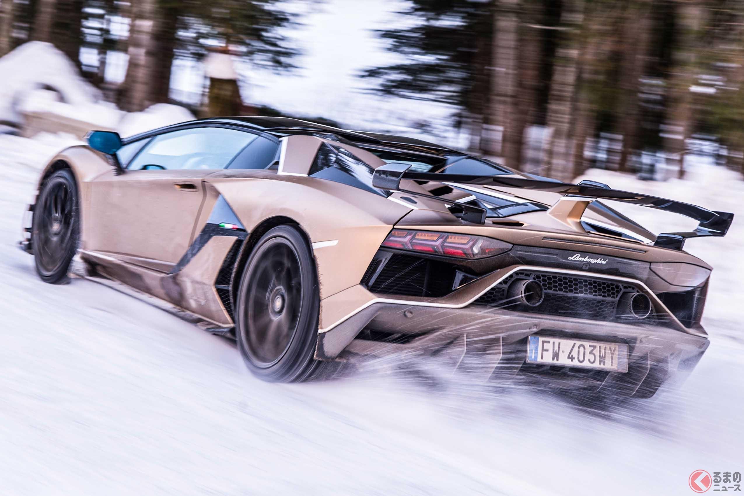 5000万円超のランボルギーニで雪道を激走!! セレブなグランドツアーで環境問題について考える!?