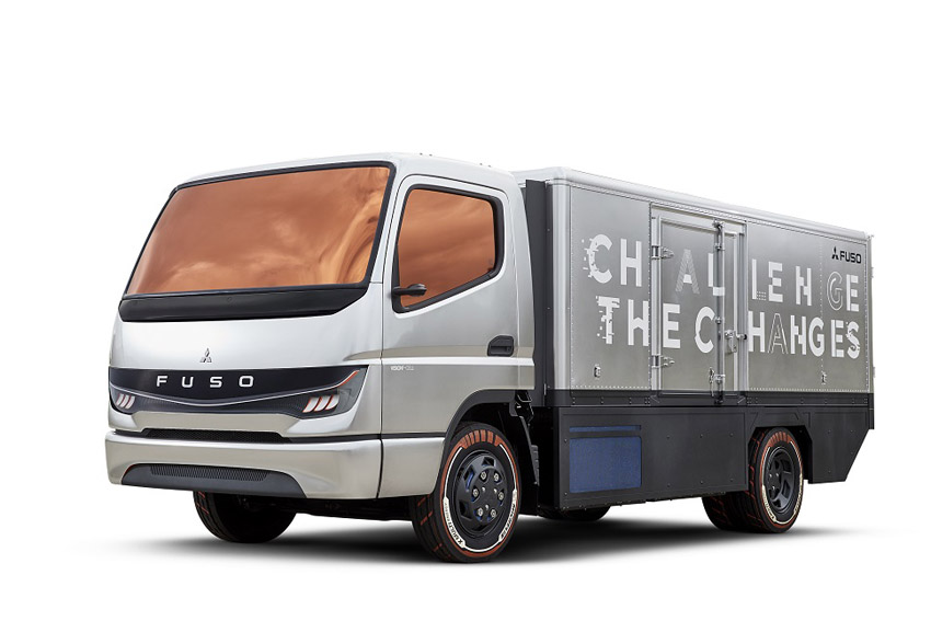 ミシュラン 三菱ふそうの燃料電池トラックにプロトタイプ・タイヤ装着