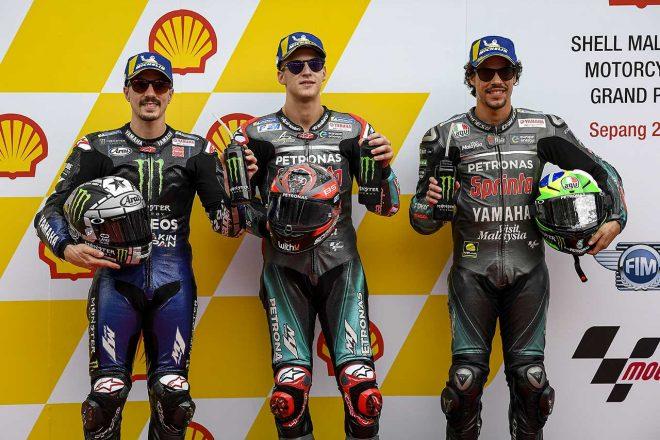 クアルタラロ「マルクが背後にいることを知っていた」/MotoGP第18戦マレーシアGP 予選トップ3コメント