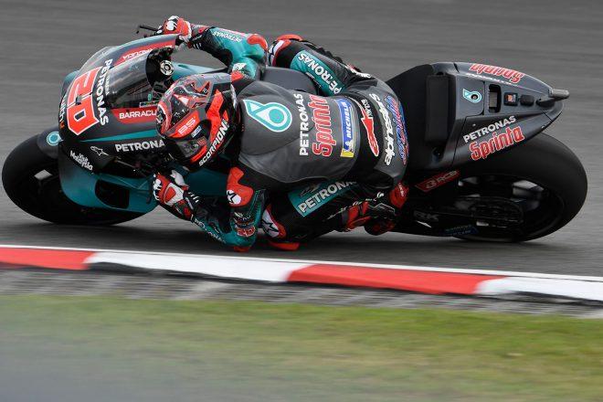 MotoGPマレーシアGP:クアルタラロ、レコードブレイクでポール獲得。マルケスは転倒で自己ワーストグリッドに