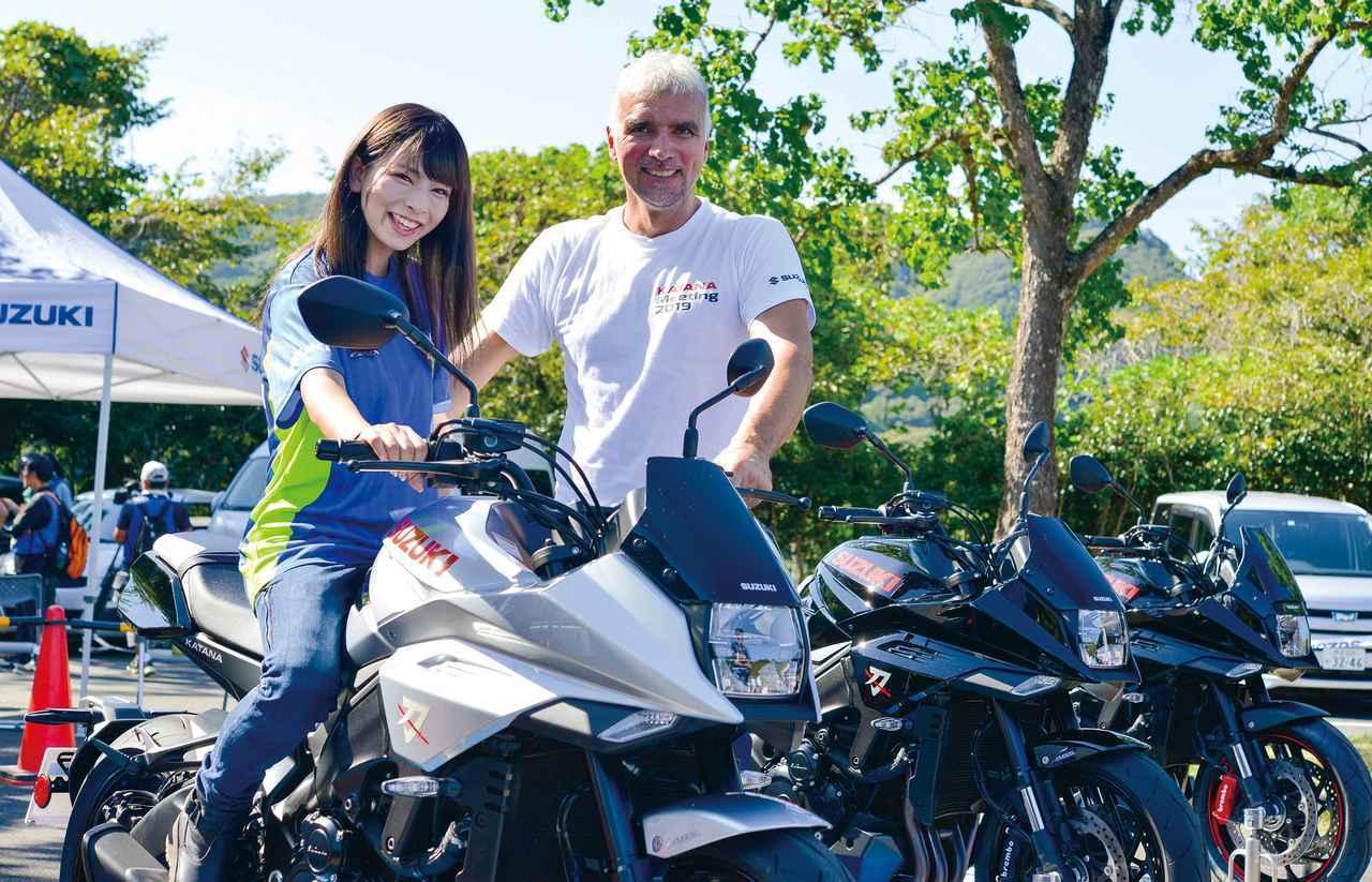 新型KATANAのデザイナー、フラスコーリさんに突撃取材! カタナというバイクの印象、そしてアップアハンドルについても聞いてみた!