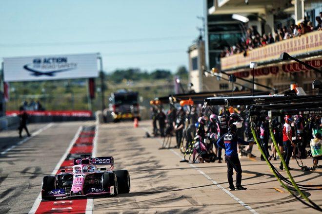 レーシングポイントのペレス、FIA重量測定の指示に従わず、ピットレーンスタートのペナルティ:F1アメリカGP