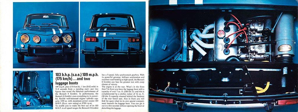 ルノー8ゴルディーニ/今も脳裏に刻まれているゴルディーニの諸元値【自動車型録美術館】第17回