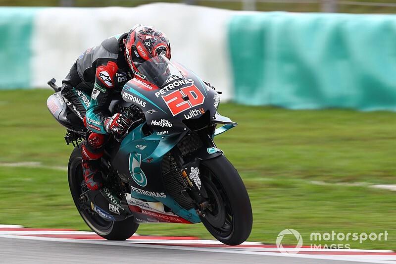 MotoGPマレーシア予選:ファビオ・クアルタラロ、今季5度目ポール! マルケスまさかの転倒