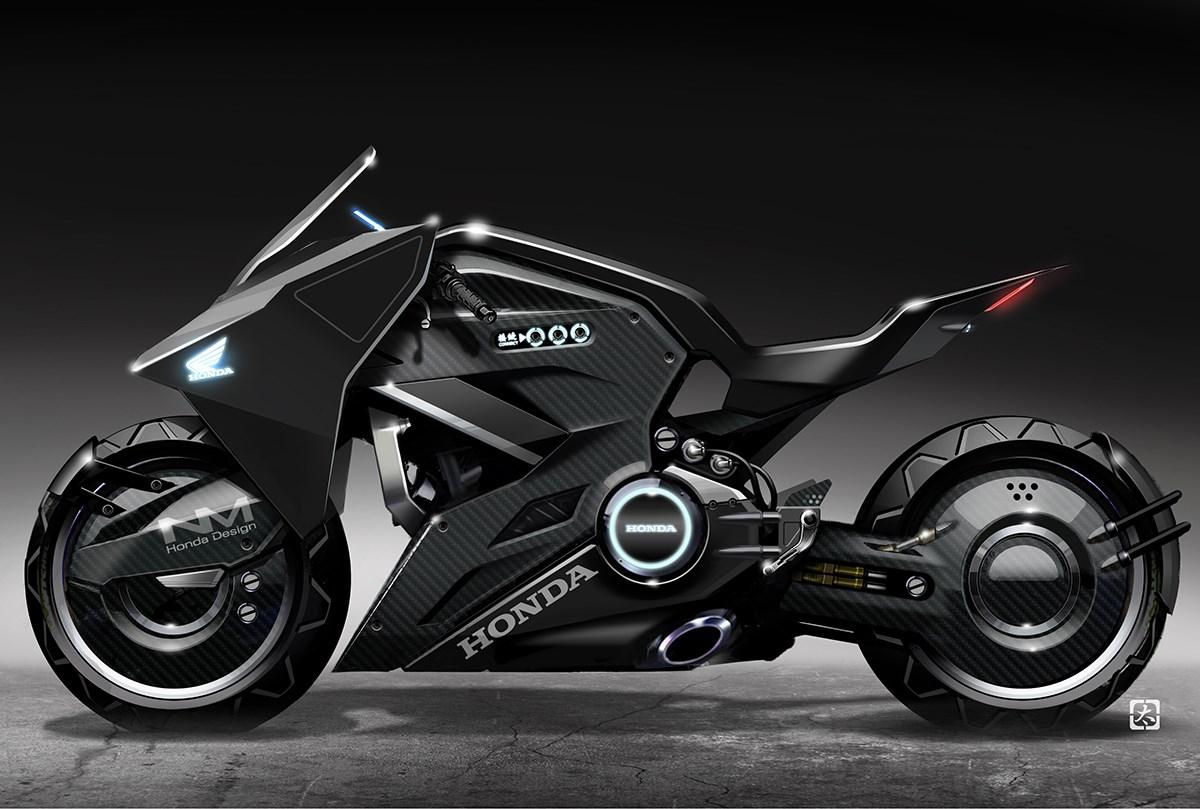 映画『ゴースト・イン・ザ・シェル』×ホンダ NM4ベースのバイクが近未来を駆け回る!