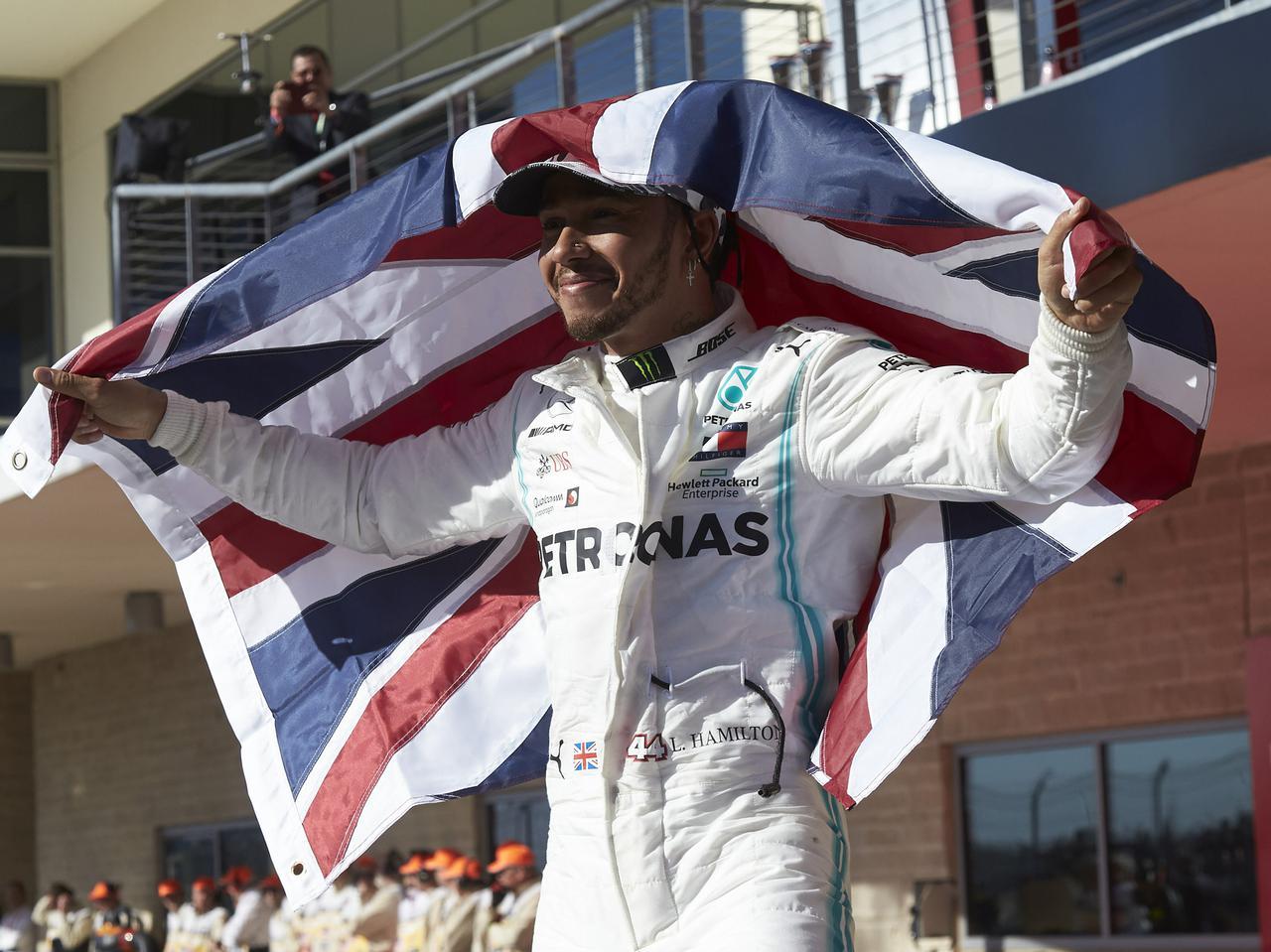 F1第19戦アメリカGP、ハミルトンが3年連続6度目のドライバーズタイトルを獲得【モータースポーツ】