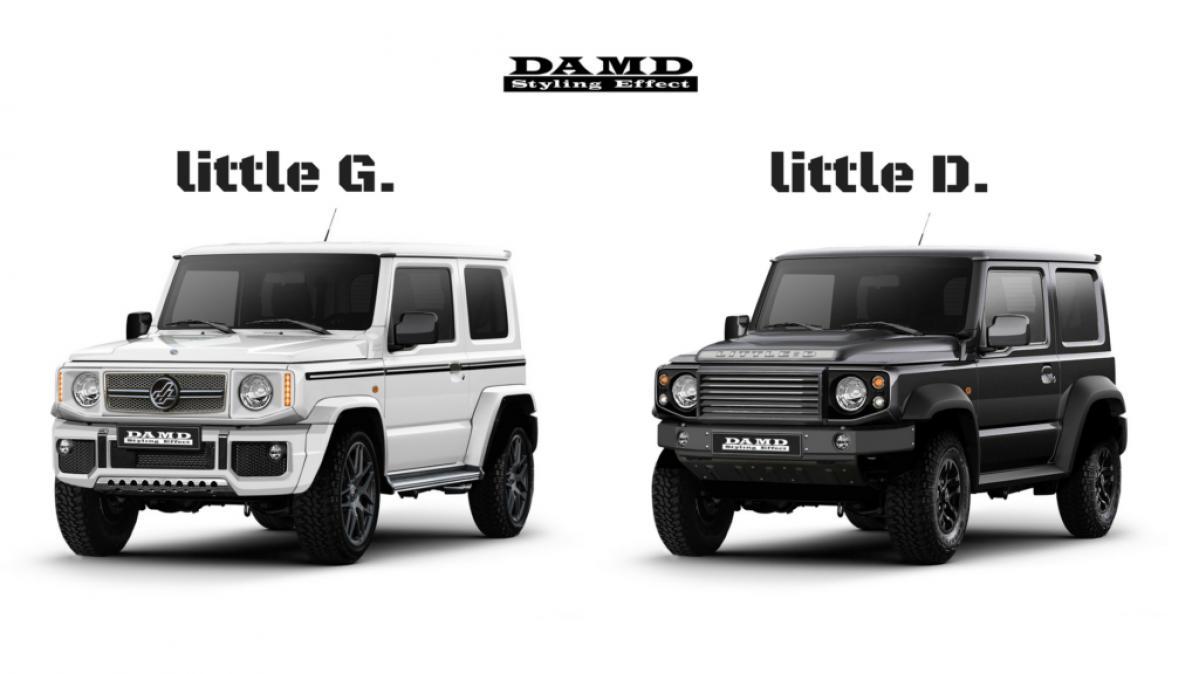 新型ジムニーがGクラスやディフェンダーのルックスに! DAMDが提案するエアロに注目!