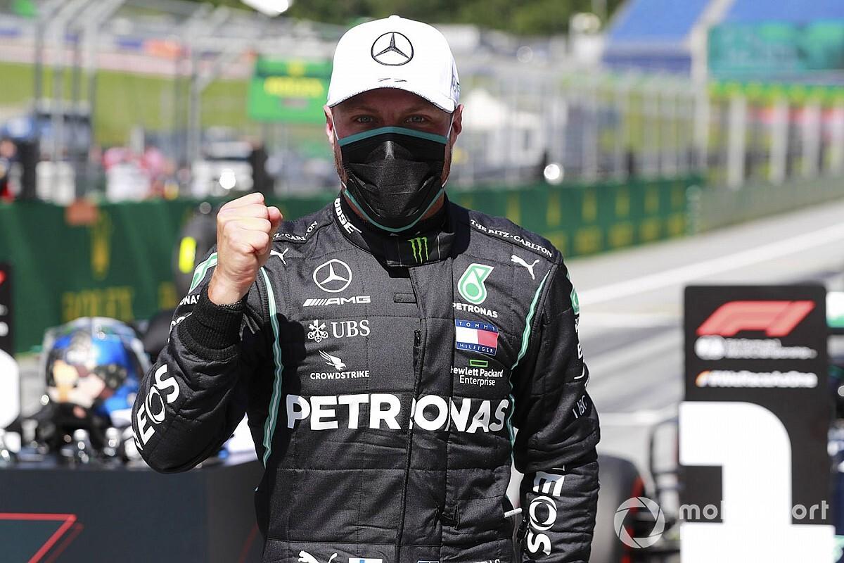 F1オーストリアGP予選:ボッタス、ハミルトン抑えPP。レッドブル・ホンダのフェルスタッペンは3番手も0.5秒差