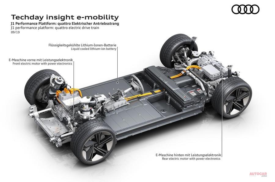 アウディ 電動4ドア・クーペを開発中 ベースはポルシェと共同開発