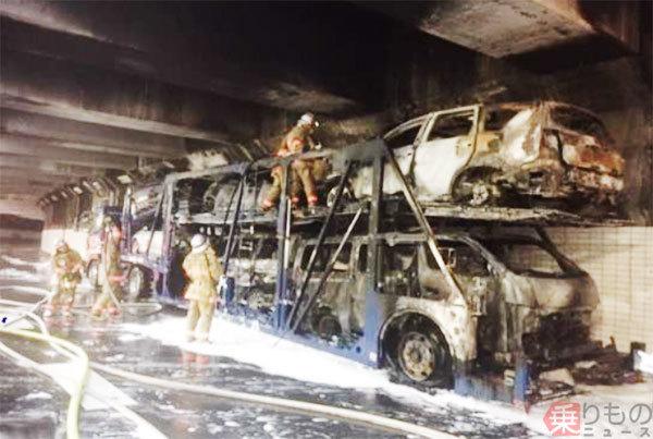 車両火災が首都高で増加中 なぜ? 通行止め長時間化 トンネル火災&多重事故も