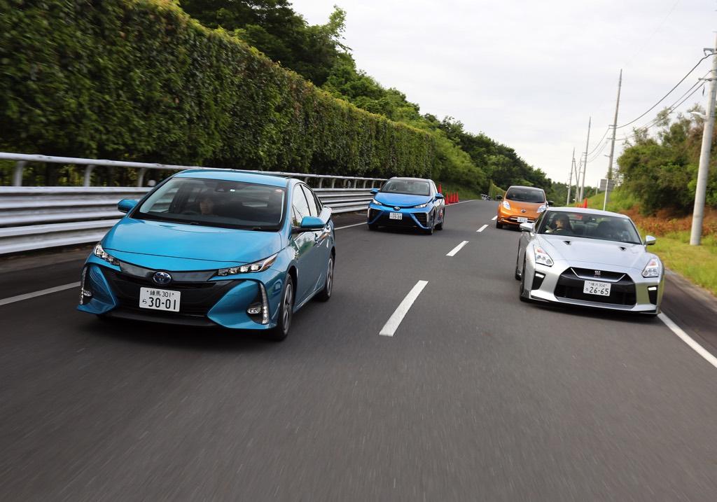 """「エコカー VS GT-R!?」R35をベンチマークに""""ミライ/リーフ/プリウスPHV""""の実力を数値化してみた!"""