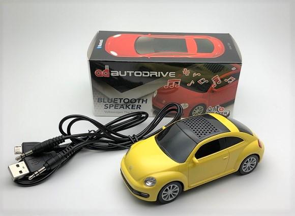 まもなく本物は販売終了!エンブレム付きでヘッドライトが点灯するフォルクスワーゲンのビートル型Bluetoothスピーカー
